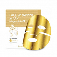Маска для лица с коллагеном Berrisom Face Wrapping Mask Collagen Solution 80 27g